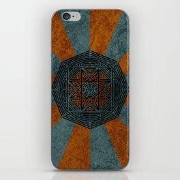 Rising Sun Pattern iPhone Skin