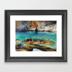 EYGENIA LOGVYNOVSKA , Sea Rocks Framed Art Print