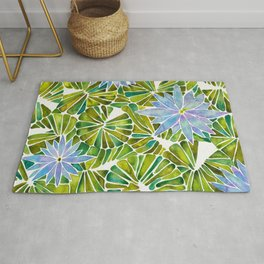 Water Lilies – Lavender & Green Palette Rug