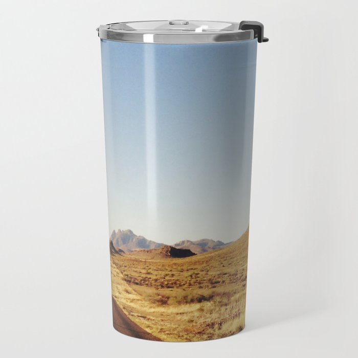Golden Rolling Hills Road Travel Mug