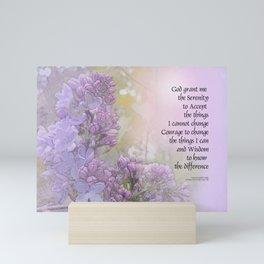 Serenity Prayer Lilacs Mini Art Print