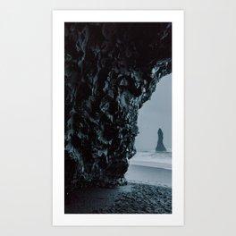 Reynisfjara Cave Art Print