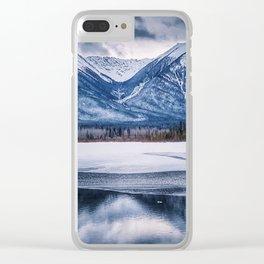 Vermillion Lakes Clear iPhone Case
