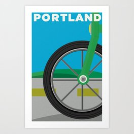 PDX Travel / Bike Art Print