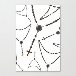 Wooden Rosary II Canvas Print