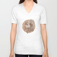 aries V-neck T-shirts featuring Aries by Nicola Wallace