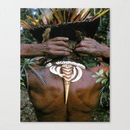 Papua New Guinea Sing Sing Canvas Print