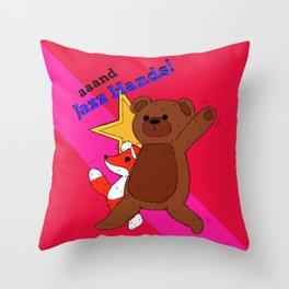 aaand Jazz Hands! Throw Pillow