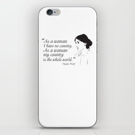 Virginia Woolf Feminist Quote iPhone Skin