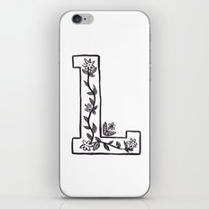 L is for iPhone & iPod Skin