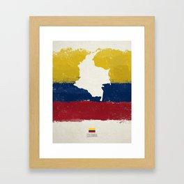 Viva Colombia Framed Art Print