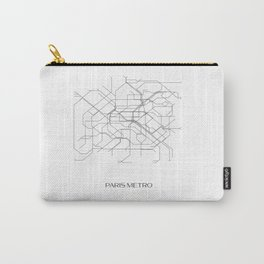 Paris Metro Underground Map Carry-All Pouch