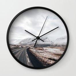 Icelandic valley Wall Clock