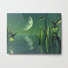 Electric Fireflies Metal Print