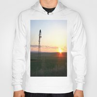 montana Hoodies featuring Montana Sunset by Kim Ramage