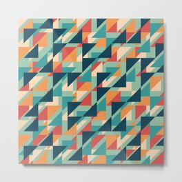 Abstract geometric background. Retro overlapping triangles. Metal Print