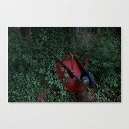 Red Wheelbarrow Canvas Print