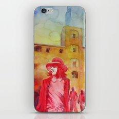 Chapeau rouge iPhone & iPod Skin
