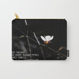Sakura flowers on black 03 Carry-All Pouch