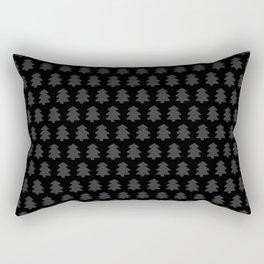 Black Forest Pattern Rectangular Pillow
