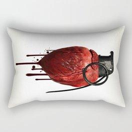Heart Grenade Rectangular Pillow