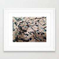 letter Framed Art Prints featuring Letter by Fermahui