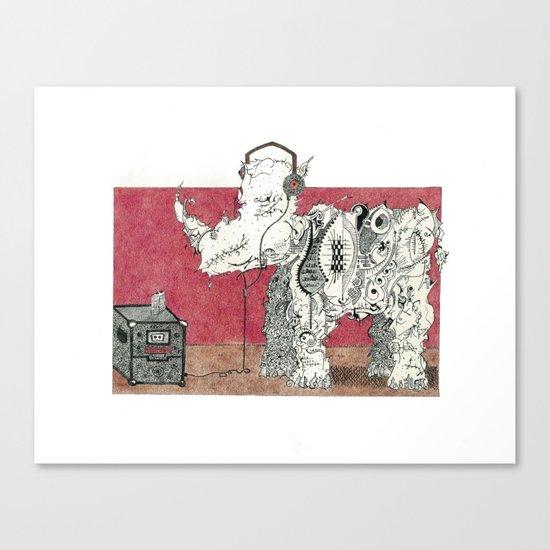 Rock Rhino Canvas Print