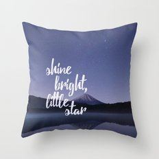 Shine Bright Little Star Night Sky Throw Pillow