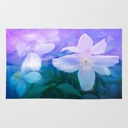 Romantic Garden with Flowers Rug