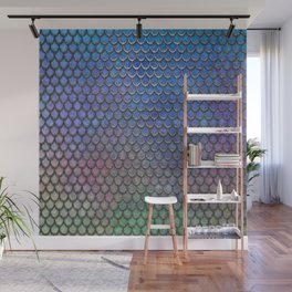 Colorful Silver II Mermaid Scales Wall Mural
