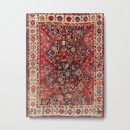 Qashqa'i Fars Southwest Persian Nomad Rug Print Metal Print