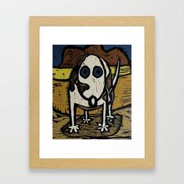 """""""Skippy visits Canyon lands Framed Art Print"""