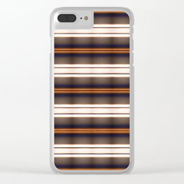 Rich Rustic Brown Stripes Clear iPhone Case