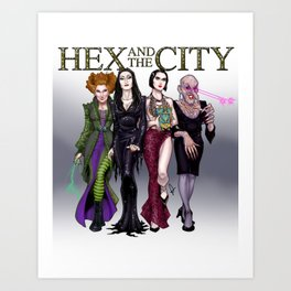 Hex and the City Art Print