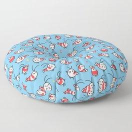 Shy shrimp - pattern Floor Pillow