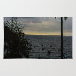Dreamy Mexican Beach Sunset Rug