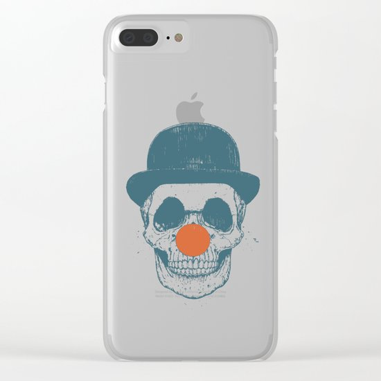 Dead clown Clear iPhone Case