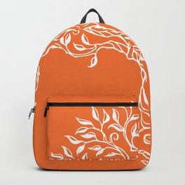 Tree of Life Orange Backpack