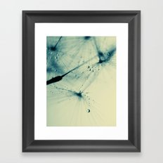 dandelion green X Framed Art Print