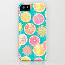 Juicy Grapefruit Slices iPhone Case