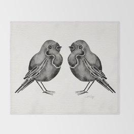 Little Blackbirds Throw Blanket
