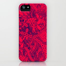 The Wild Things Salmon and Blue iPhone Case