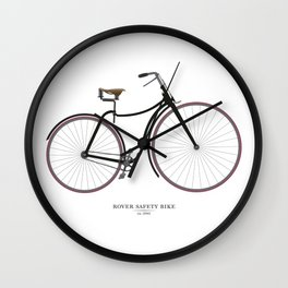 Vintage Rover Safety Bike Wall Clock