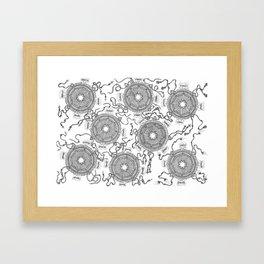 Dharma Wheels Framed Art Print