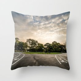Brooklyn park entrance/exit Throw Pillow