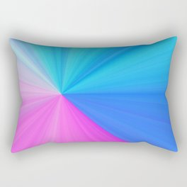 Pink & Aquamarine Rays Rectangular Pillow