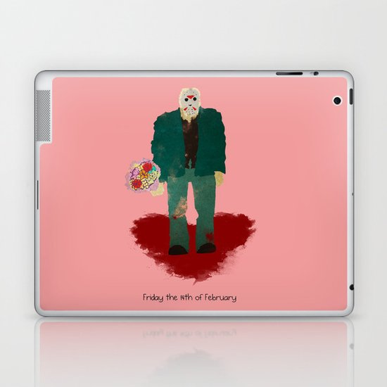 Friday the 14th of February (Monsters in Love) Laptop & iPad Skin