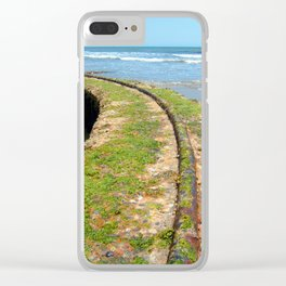 Old Tracks By The Ocean Clear iPhone Case