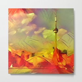 Maple Leaf Color Toronto Metal Print