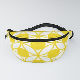 Geometric Floral Circles Summer Sun Shine Bright Yellow Fanny Pack